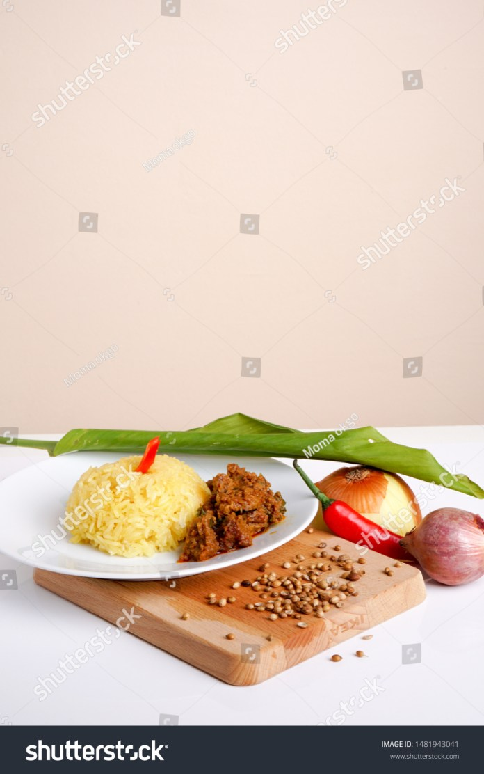 Decorative Traditional Malaysia Indonesia Food Yellow Stock Photo Edit Now 1481943041