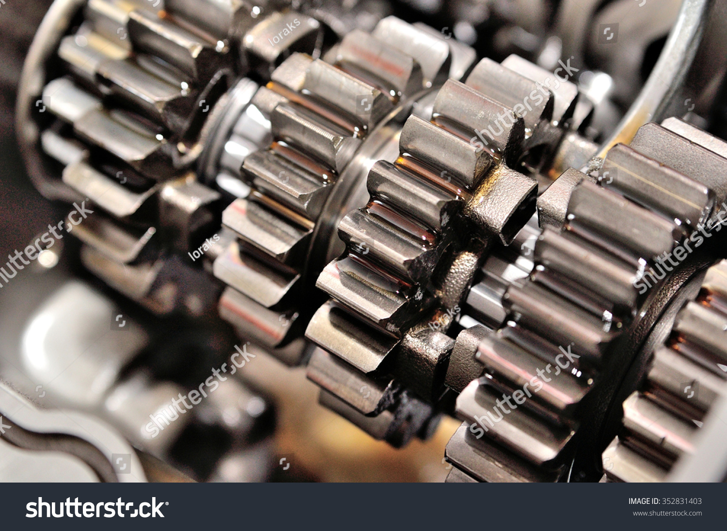 hight resolution of detail of a motorcycle gearbox