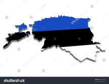 Detailed 3d Map Estonia Flag Stock Illustration 62191606
