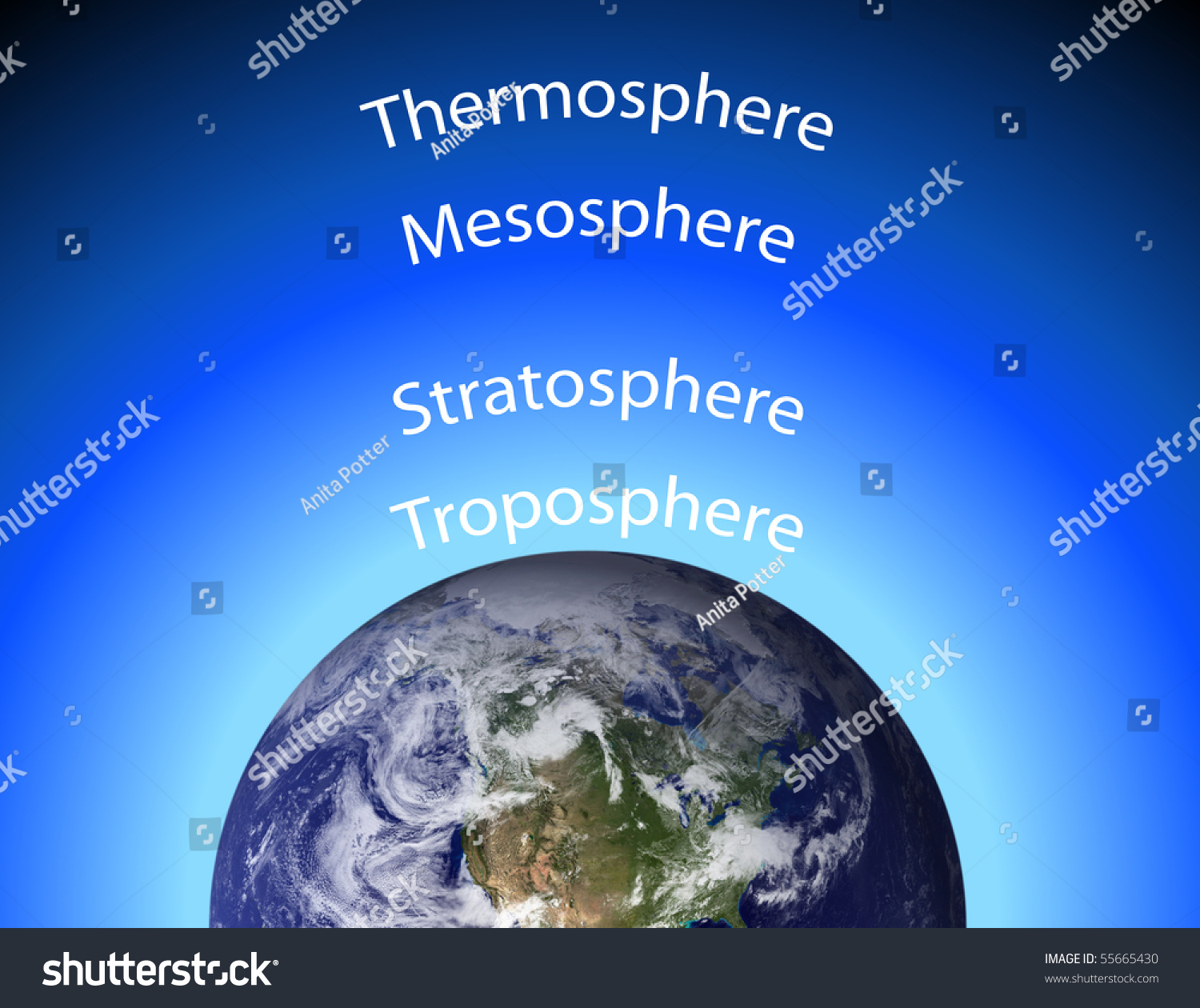 layers of the earth diagram rtd wiring earths atmosphere stock illustration 55665430 - shutterstock