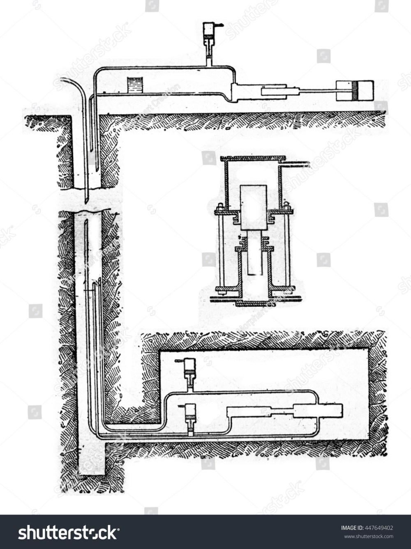 medium resolution of diagram of hydraulic transmission pump vintage engraved illustration industrial encyclopedia e o lami 1875