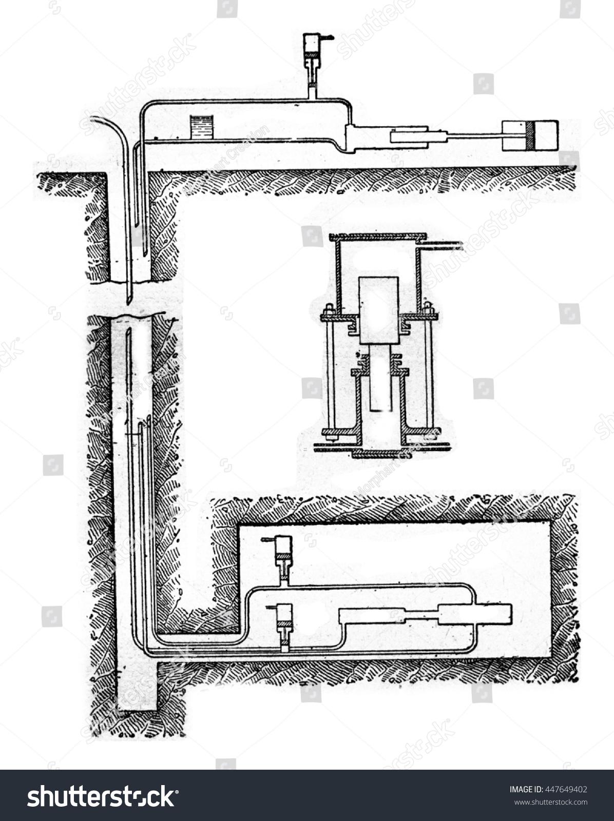 hight resolution of diagram of hydraulic transmission pump vintage engraved illustration industrial encyclopedia e o lami 1875