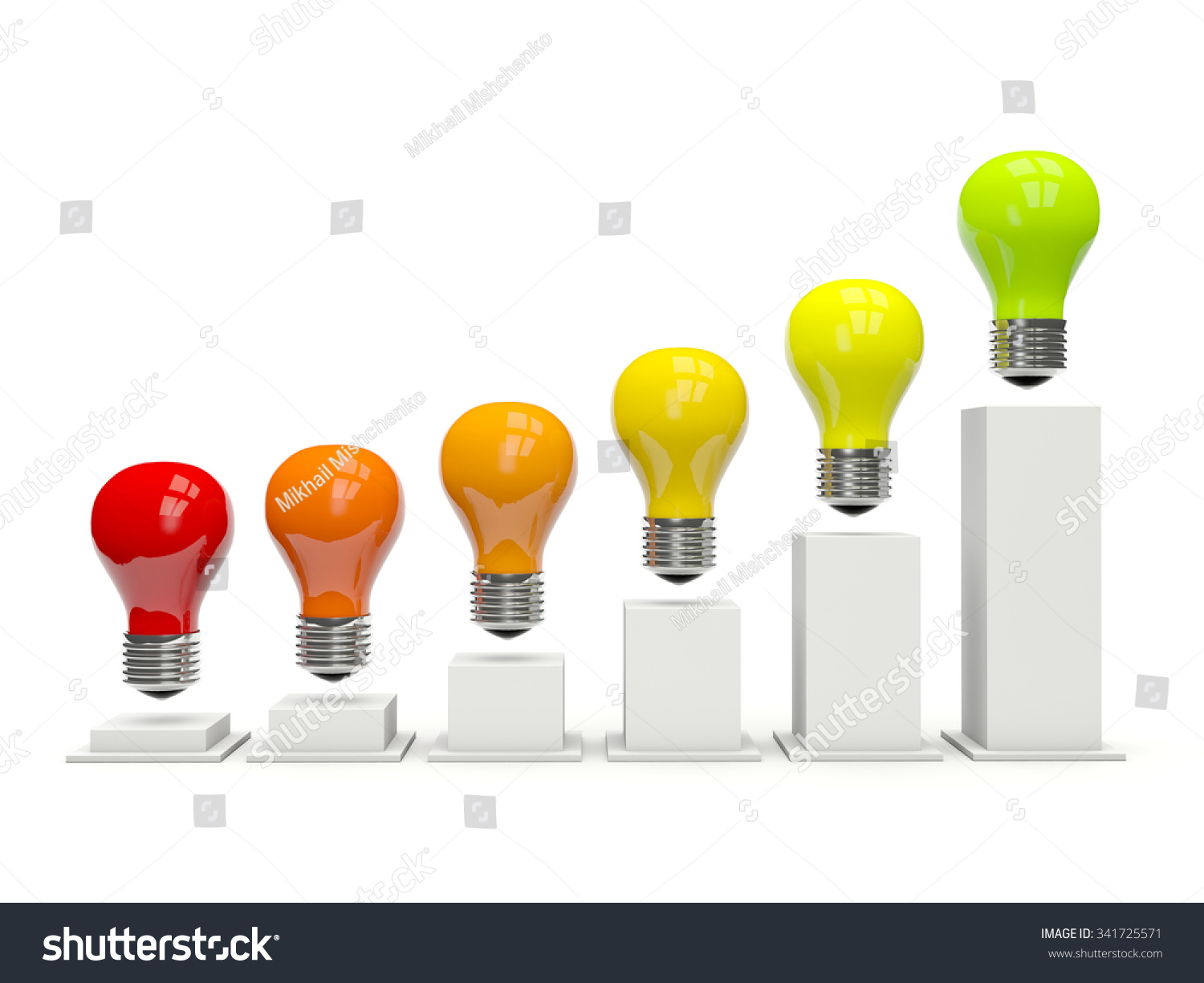 hight resolution of diagram of light bulbs isolated on white