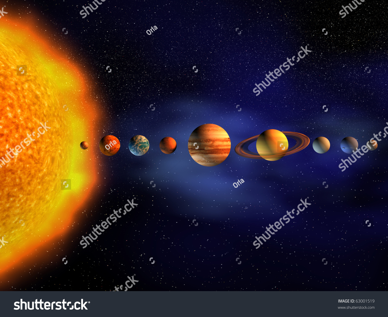 Diagram Of Solar System Stock Illustration Image 56772395
