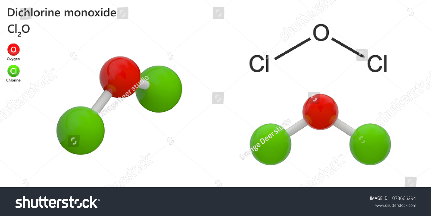 hight resolution of dichlorine monoxide formula cl2o is a red yellow gas very reactive and