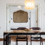 Dining Room Interior Marble Table Stock Photo Edit Now 260235311