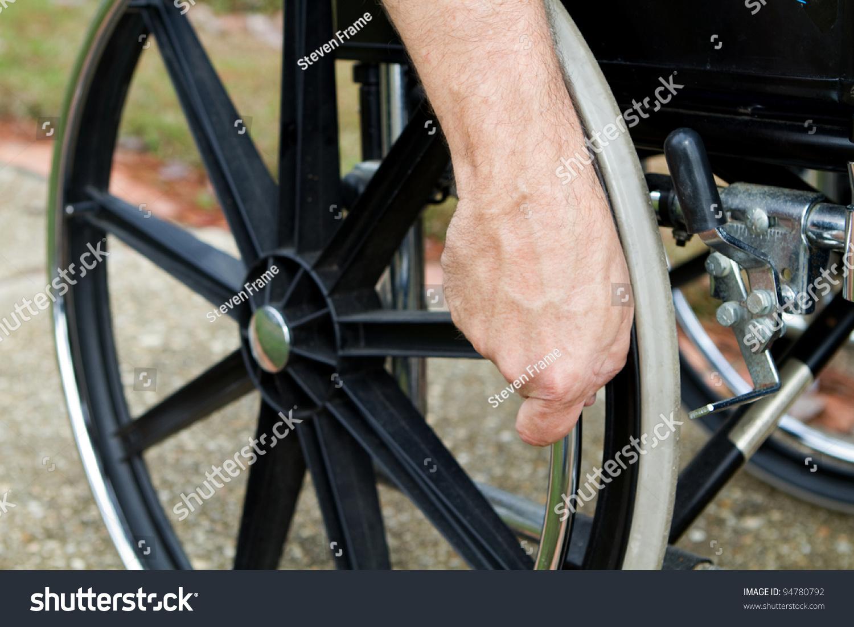 wheelchair grips office chair tilt mechanism disabled mans hand push rim stock photo 94780792