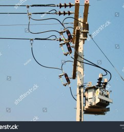 distribution transformer on pole three phase transformer type for converting high voltage ac to low  [ 1500 x 1225 Pixel ]