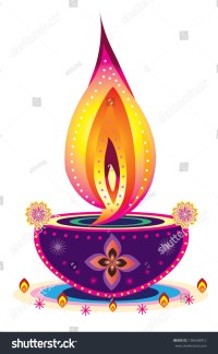 Diwali Candle Light Indian New Year Stock Illustration ...