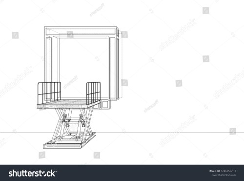 small resolution of dock leveler concept 3d illustration wire frame style