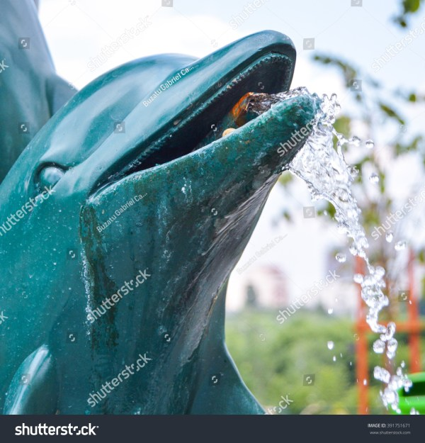 Dolphin Shaped Fountain Stock 391751671 - Shutterstock