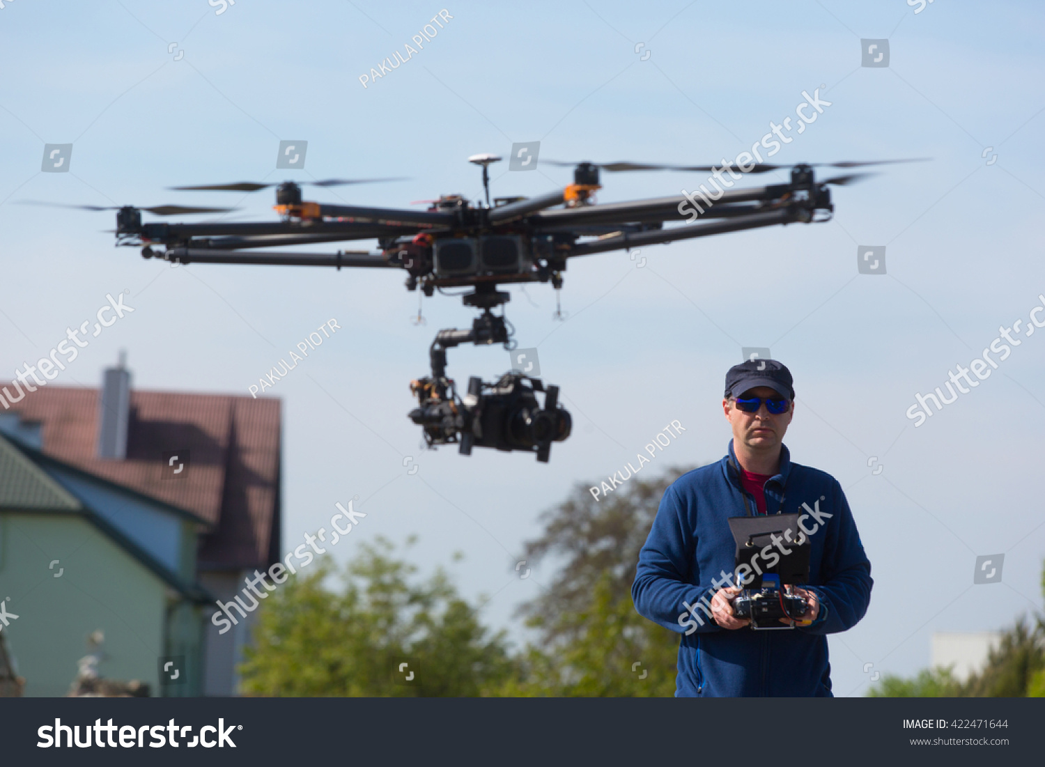 Drone. Unmanned Copter Flight. Pilot Flying Drone Stock Photo 422471644 : Shutterstock