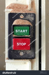 Dusty Start - Stop Switch On A Saw Stock Photo 1563730 ...