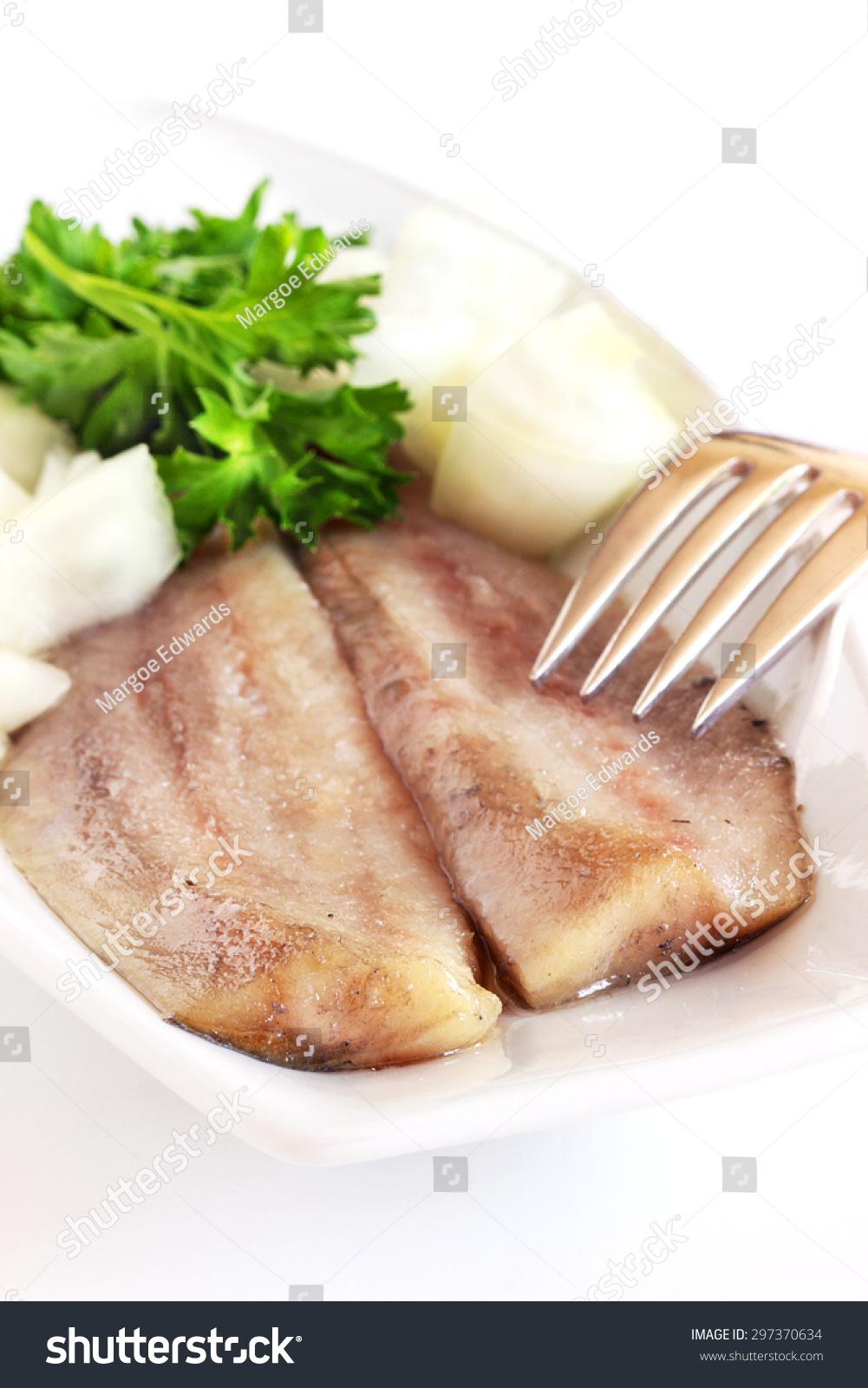 Dutch Herring With Onions Stock Photo 297370634 : Shutterstock
