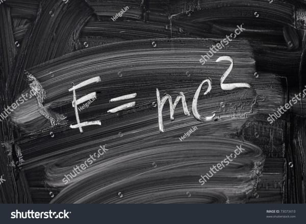 Emc2 Theory Relativity Writings Blackboard Stock