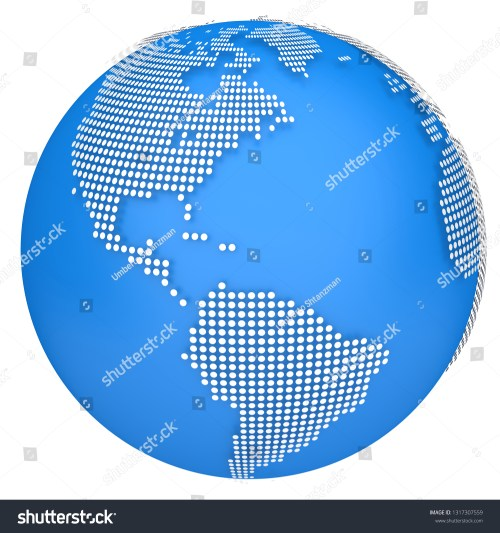 small resolution of earth map globe 3d dotted model side of north and south america 3d illustration