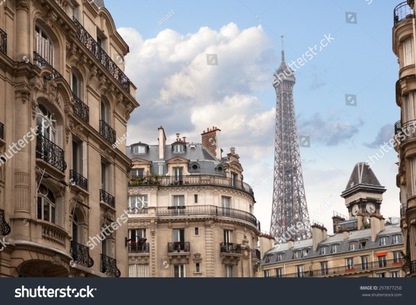 Eiffel Tower In Paris. View City Streets Stock 297877250 Shutterstock