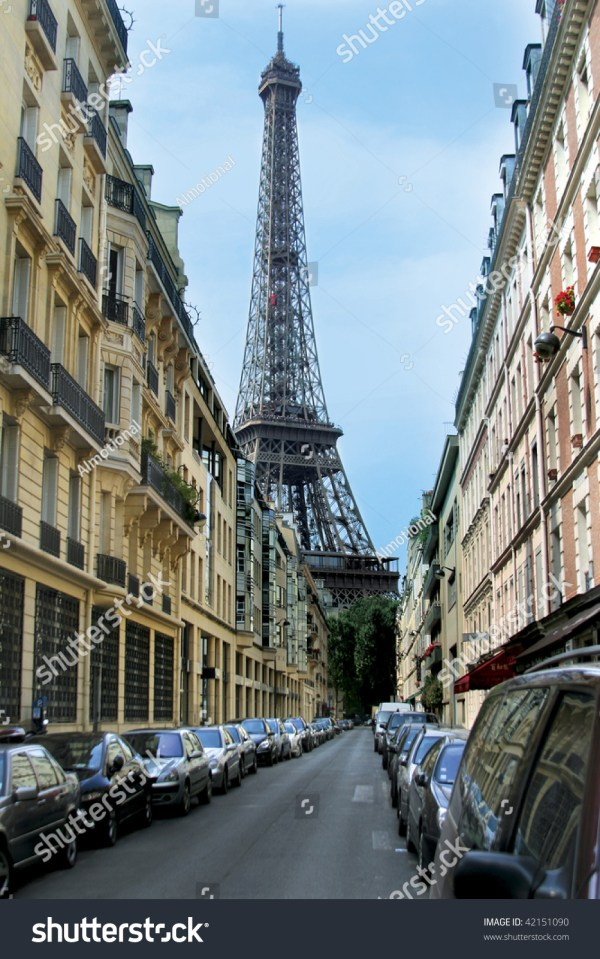 Eiffel Tower Street Paris France Stock 42151090