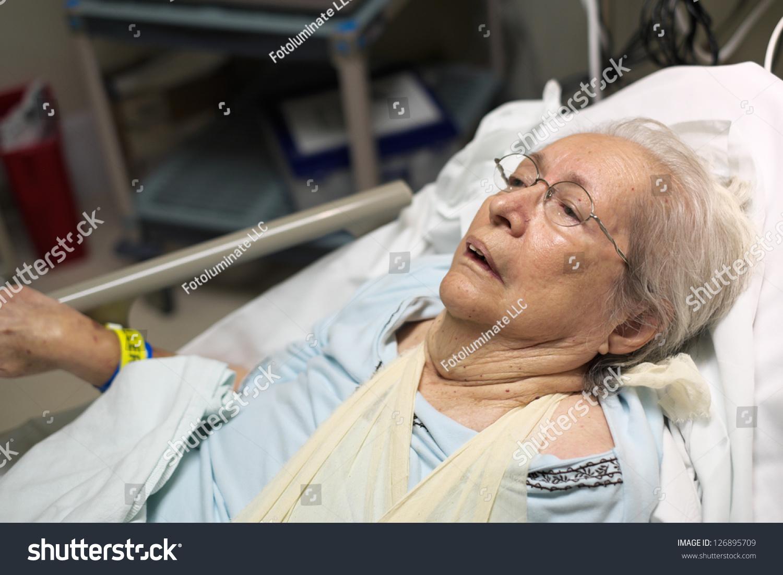 Elderly 80 Plus Year Old Woman Stock Photo 126895709