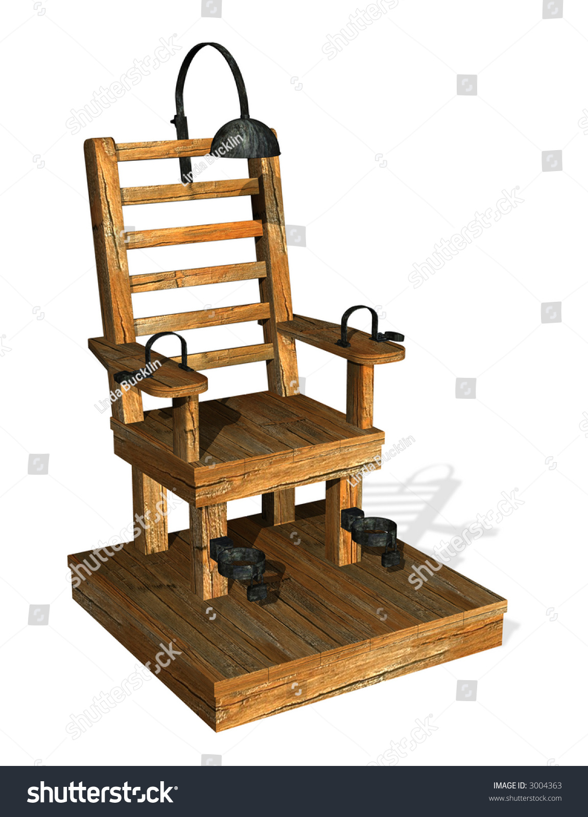 Electric Rocking Chair Electric Chair 3d Render Stock Illustration 3004363