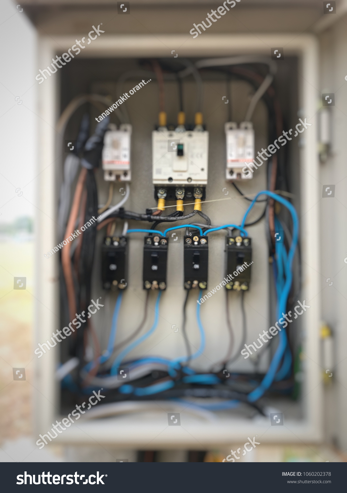 hight resolution of electric circuit breaker electric box electricity distribution box with wire and circuit breaker electric breaker switch installed on a cement pole