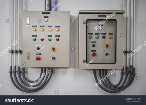 small resolution of electric control panel cabinets with the many color buttons for controller the electrical system circuit is