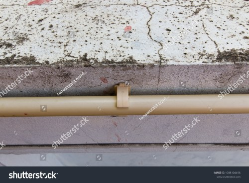 small resolution of electric plastic tube wiring on concrete wall electric pipe railing system in building plastic