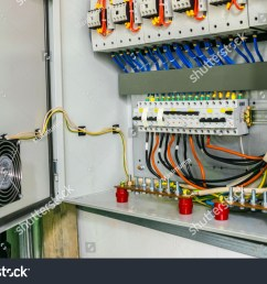 electric power circuit breakers are in the fuse box the wires with the terminals are [ 1500 x 1101 Pixel ]