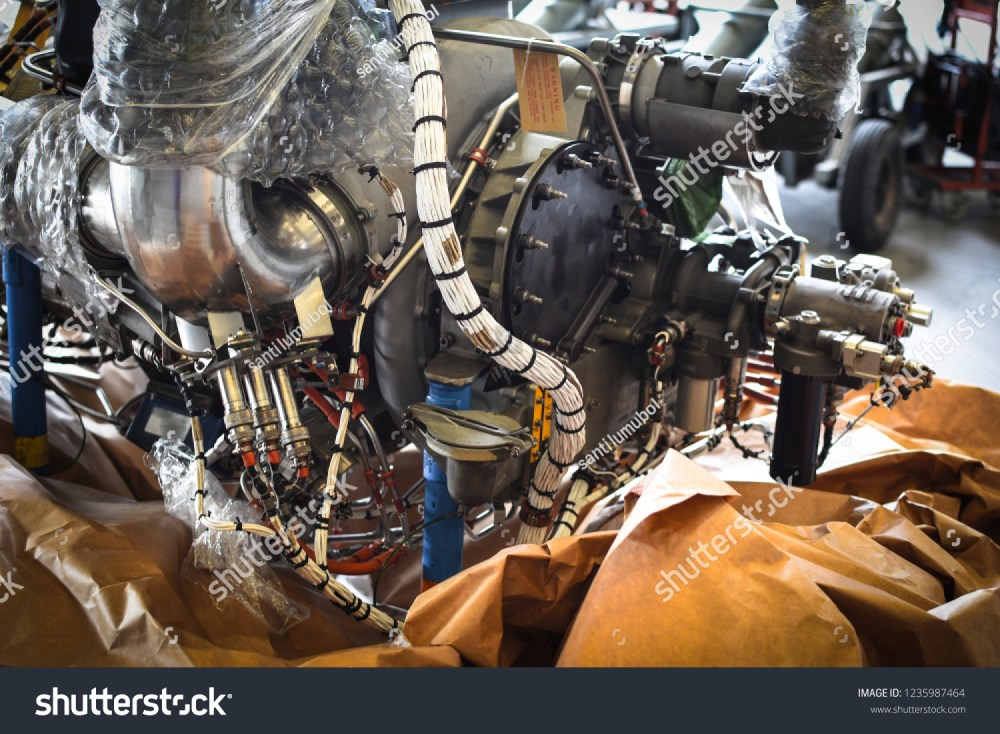 medium resolution of electric wire harness of jet engine in aircraft while engine on ground for maintenance by technician