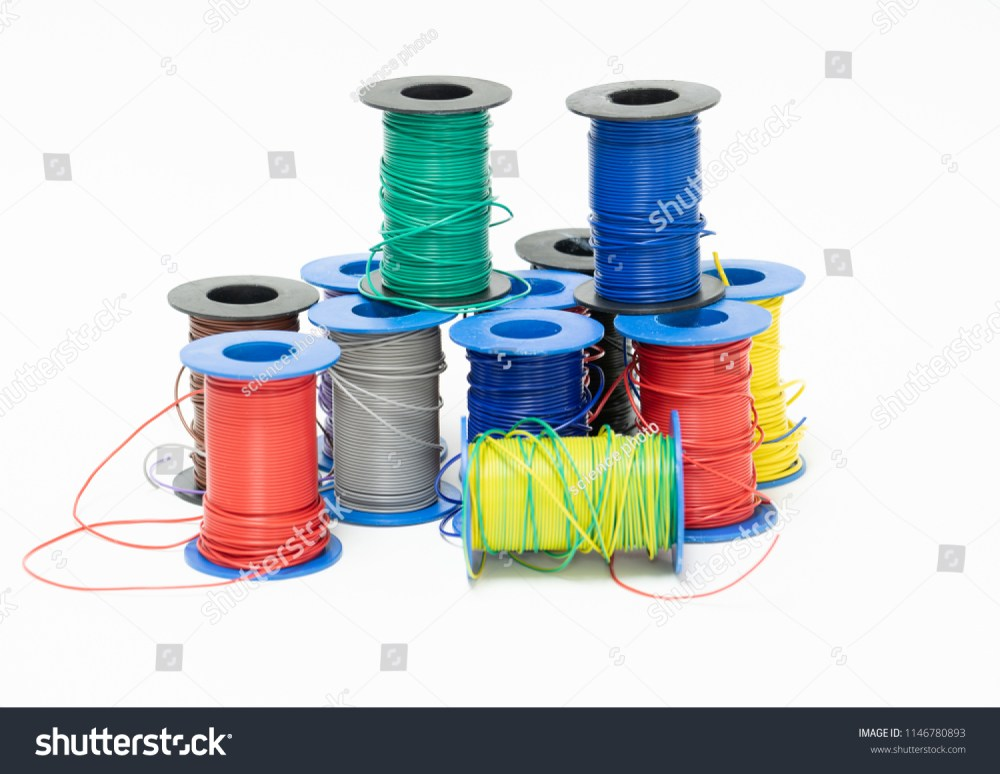 medium resolution of electric wires cables multicolored computer cable isolated on white background