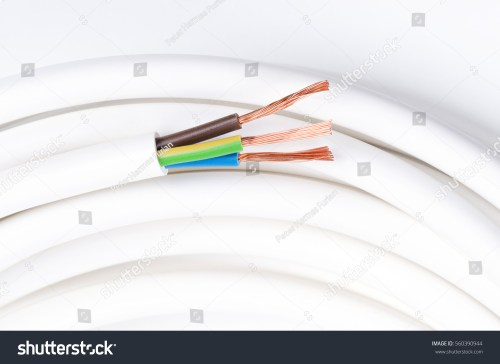 small resolution of electrical cable with three insulated conductors horizontal power cable cross section cable
