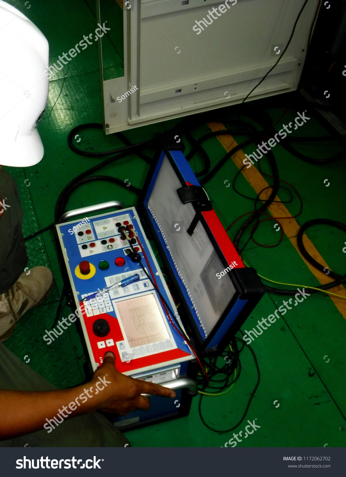 hight resolution of electrical preventive maintenance on site current transformer and potential transformer testing