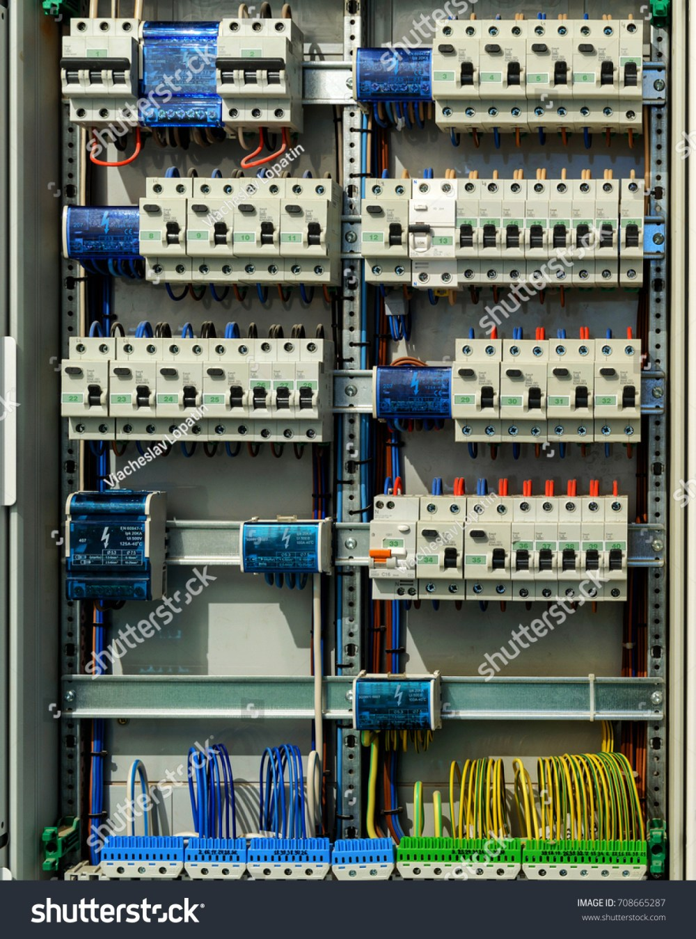 medium resolution of electrical switch box in a house large electric fusebox on a wall open switchboard