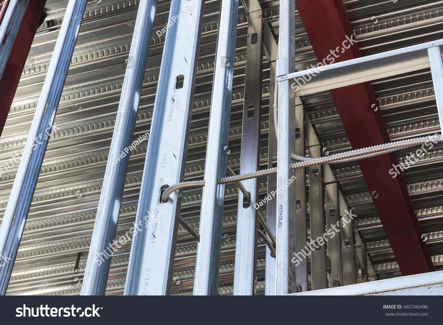 hight resolution of electrical wiring is seen in the frame with metal studs