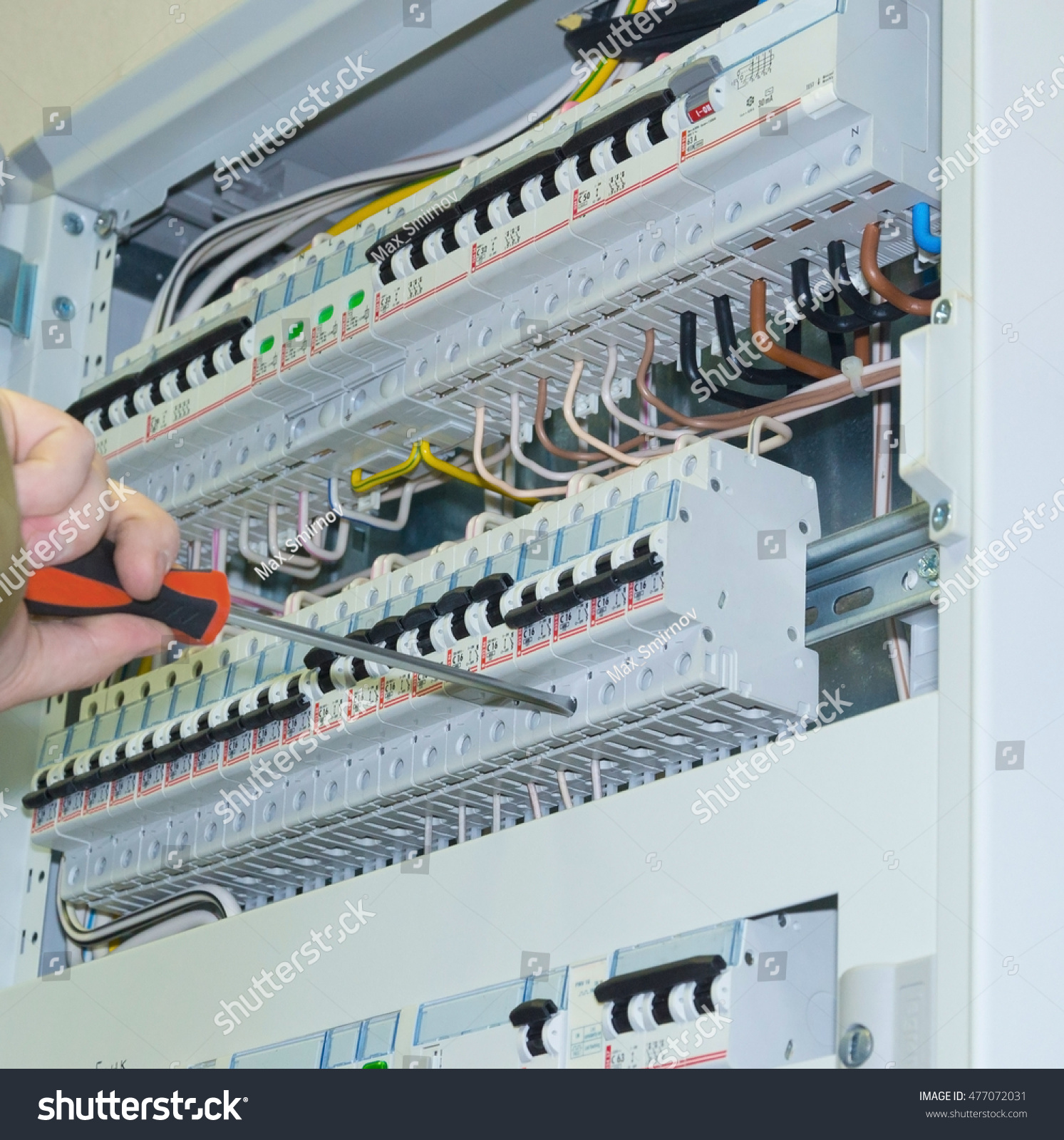 hight resolution of electricity distribution box with wires and circuit breakers fuse box