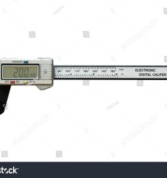 electronic digital vernier calipers isolated on white background [ 1500 x 1101 Pixel ]