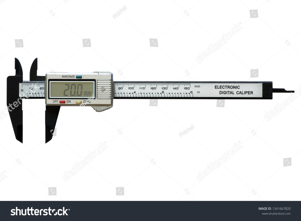 medium resolution of electronic digital vernier calipers isolated on white background
