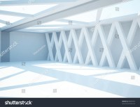 Empty Wide Room Columns Abstract Interior Stock ...