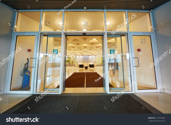 Entrance Door Reception Hall Office Building Stock