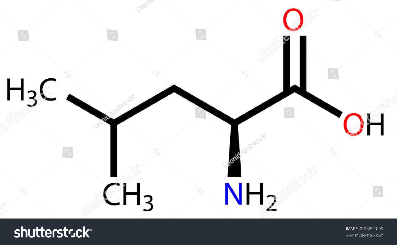 Essential Amino Acid Leucine Structural Formula Stock Photo 98891099 : Shutterstock