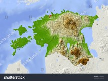 Estonia Shaded Relief Map