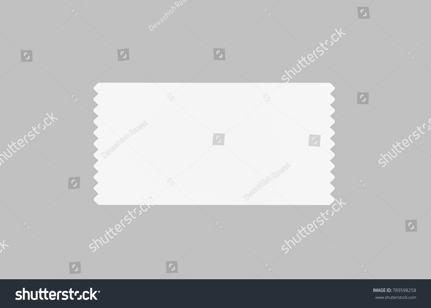 Event Ticket Movie Ticket Template On Stock Illustration 789598258 ...