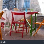 Exterior Restaurant Laid Out Table Ready Stock Photo Edit Now 1158953782