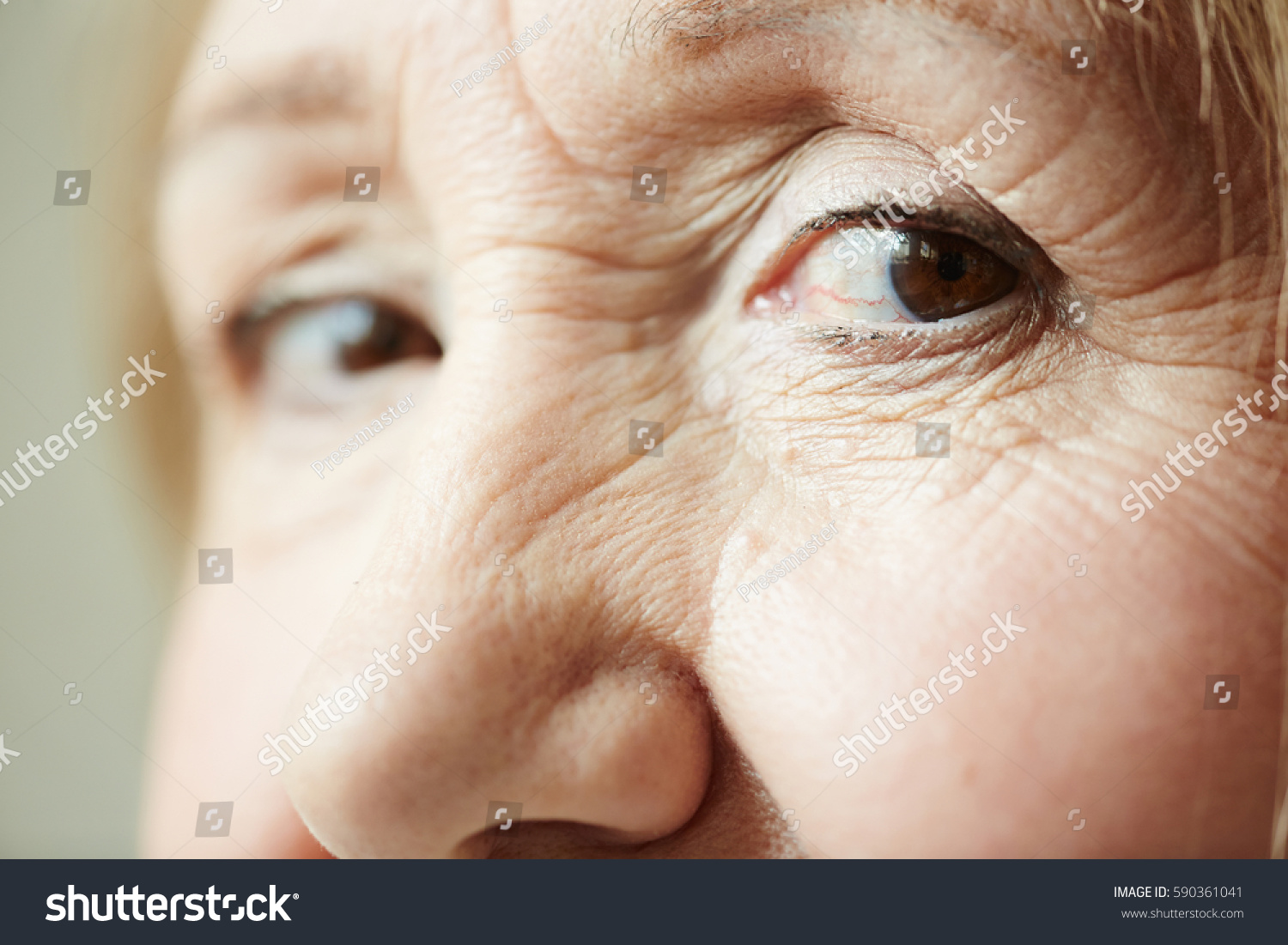 Extreme Closeup Shot Deep Dark Brown Stock Photo 590361041