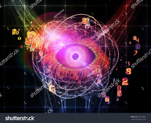 small resolution of eye particle series design composed of eye shape numbers and fractal elements as a