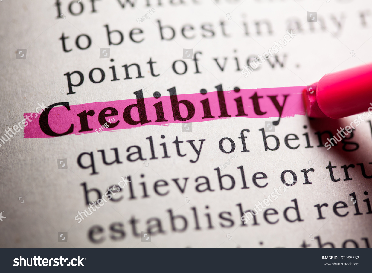 Image result for image for the word credibility