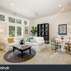 White Slipcovered Sofa Living Room Country Style Furniture Ideas Family And Playroom Features Play Table Id 704943478