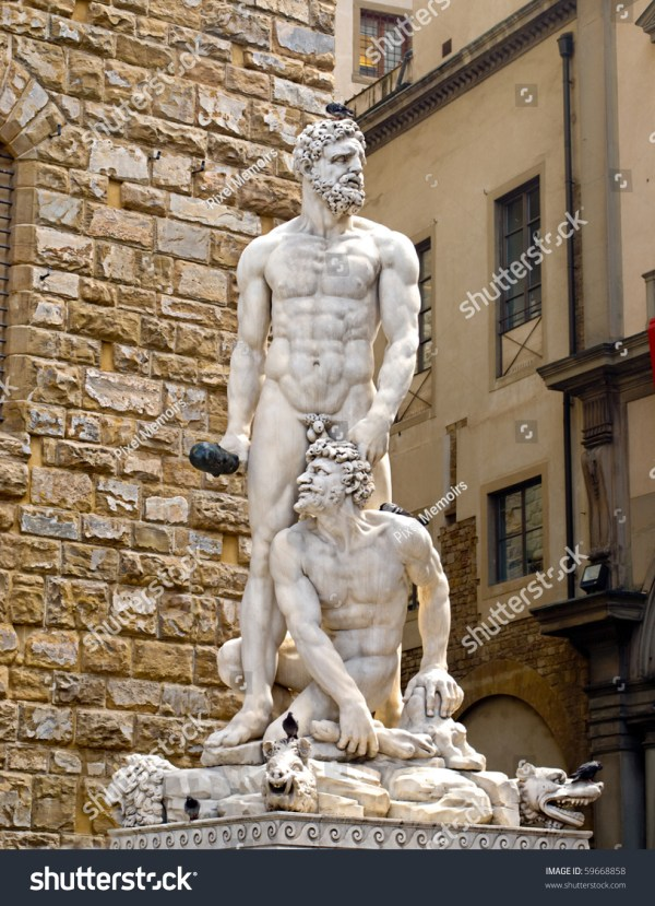 Famous Statues in Florence Italy Hercules