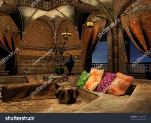 arabian palace fantasy interior pillows shutterstock