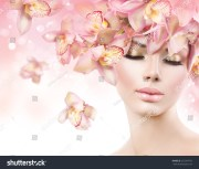 fashion beauty model girl orchid